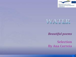 WATER Poems - selection by Ana Correia