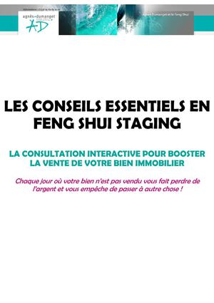 Conseils essentiels Feng Shui Staging