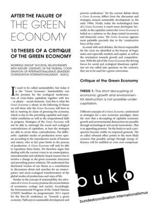Ten theses of a critique of the Green Economy