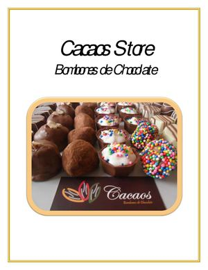 Catalogo de Productos Cacaos Chocolates