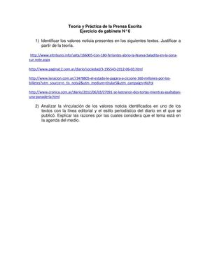 Gabinete 6.Valores noticia