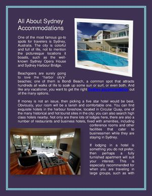 Sydney Accommodation