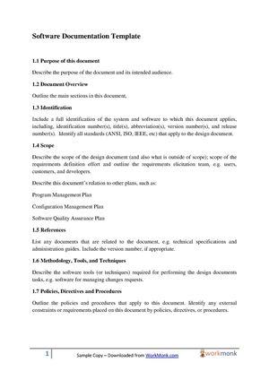 Calaméo - Software Documentation Template