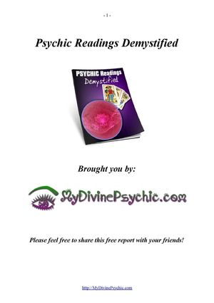 Psychic Readings Demystified - How To Get A Great Psychic Reading