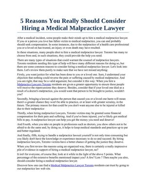 5 Reasons You Really Should Consider Hiring a Medical Malpractice Lawyer