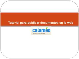 Tutorial de calameo
