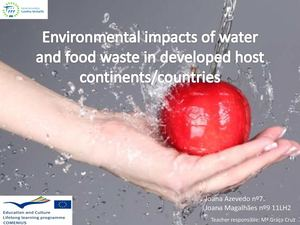 Environmental impact of food waste in developed continents -Joana Azevedo, Joana Magalhães 11LH2.pdf