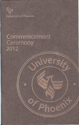 2012 Phonix University Commencement Program