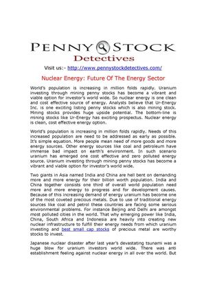 Nuclear Energy: Future Of The Energy Sector