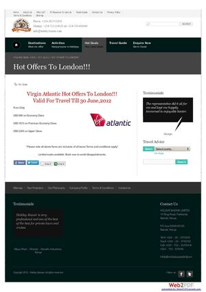 Virgin Atlantic Hot Offers To London