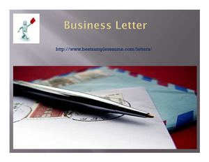 Business Letter Writing Tips