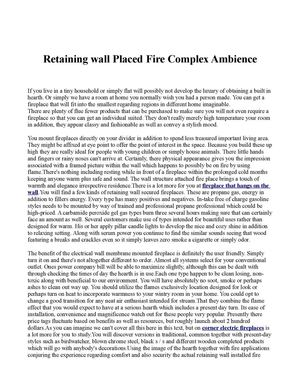 Retaining wall Placed Fire Complex Ambience