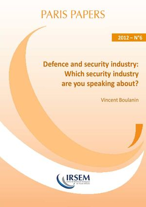 Defence and security industry : Which security industry are you speaking about?