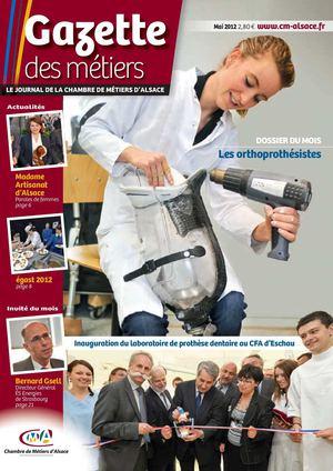 Calam o gazette des m tiers dition mai 2012 - Chambre des metiers mulhouse ...