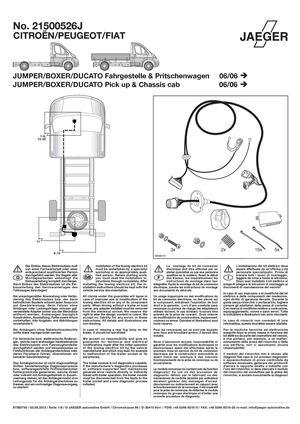 Calam  o  Montage instructie kabelset Fiat    Ducato       x250     2006