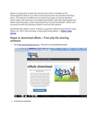 Calaméo - Steps to download, install and configure eMule