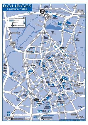 Calam o plan de bourges centre ville et acc s - Office de tourisme bourges ...