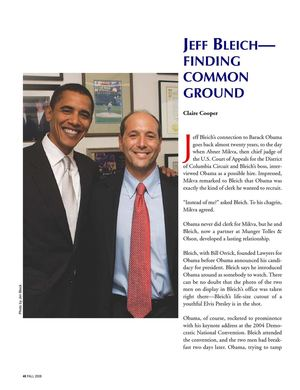 2008:  Jeffrey Bleich (AKA Jeff Bleich) Finding Common Ground with Barack Obama, Ruthe Ashley of CaliforniaALL