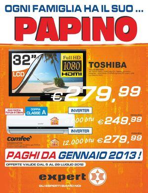 Calam o volantino expert gruppo papino dal 5 7 al 29 07 2012 for Papino expert sciacca volantino