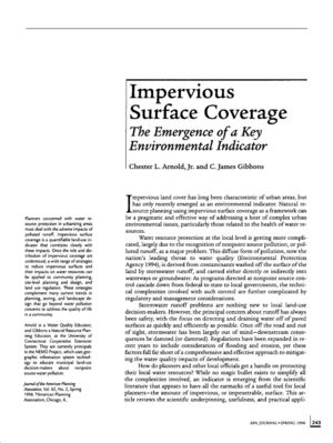 Impervious Surface: The Emergence of a Key Environmental Indicator