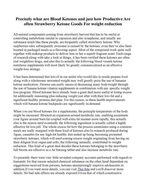 Precisely what are Blood Ketones and just how Productive Are often Strawberry Ketone Goods For weight reduction