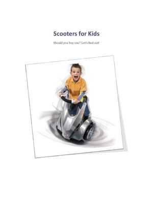 Want to buy an electric scooter for your kid?