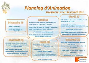Animation adultes/famille 15/7 au 20/7
