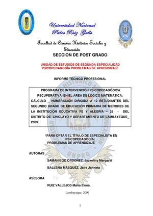 Calaméo - PROGRAMA DE INTERVENCION SOBRE PROBLEMAS DE APRENDIZAJE EN ...