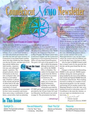 Spring 2003 Newsletter Connecticut Nonpoint Education for Municipal Officials