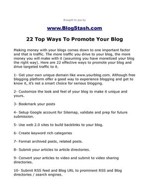 22 Effective Ways To Promote Your Blog