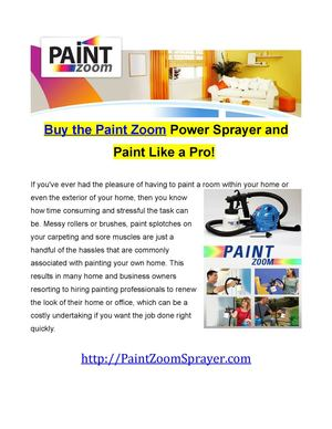 Buy the Paint Zoom Sprayer at the Best Price
