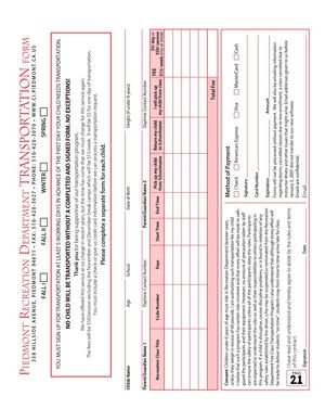 PRD Fall 2012 Transportation Form
