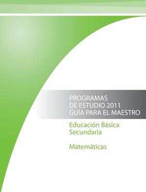 Calaméo - Matematicas Programas de Estudio 2011 Guía para el maestro