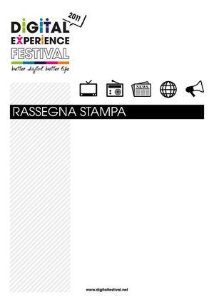 Calaméo - Rassegna Stampa Digital Experience Festival 2011 9d0b766438c