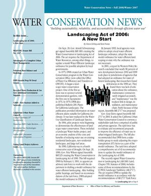 Fall 2006 - Winter 2007 California Water Conservation News