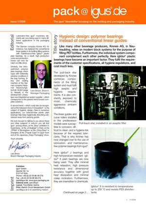 Igus packaging industry newsletter