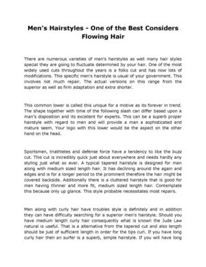 Men's Hairstyles - One Of The Best Considers Flowing Hair