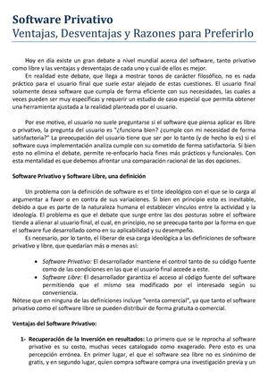definicion de software privativo