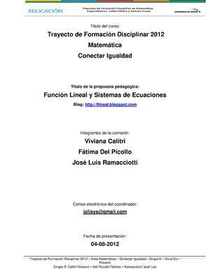 Calaméo - Función Lineal y Sistema de ecuaciones lineales (método ...