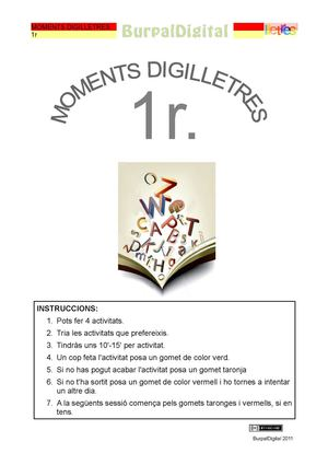 Moments digilletres de 1r