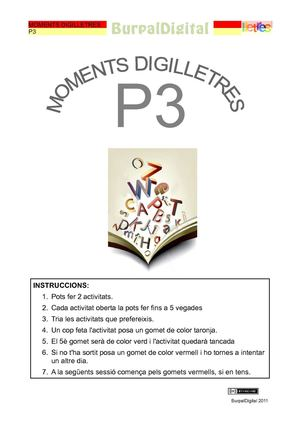 Moments digilletres de P3