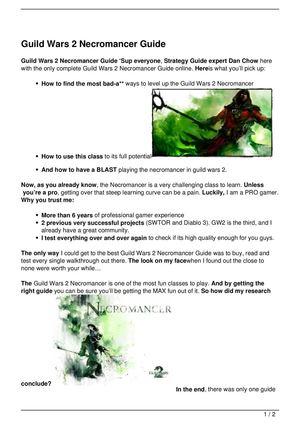 Calamo guild wars 2 necromancer guide malvernweather Choice Image