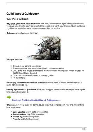 Calaméo - Guild Wars 2 Guidebook