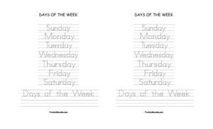 days of the week0