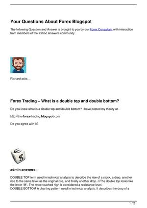 Your Questions About Forex Blogspot
