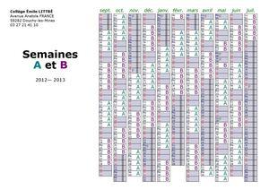 Semaines A et B (2012-2013)