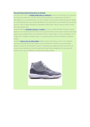 Wise and Cheap michael jordan shoes at wholesale