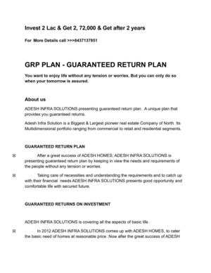 Best Investment Plans for 2 years (GRP Plan)