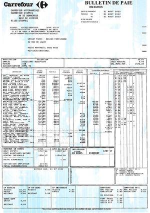Terms Of Use >> Calaméo - Carrefour : bulletin de salaire niveau IIB ...