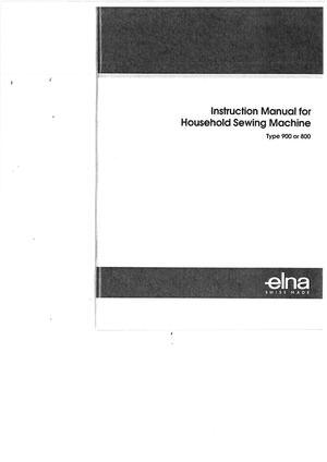 Calaméo Elna 40 40 Diva Sewing Machine Instruction Manual Enchanting Elna 9000 Sewing Machine